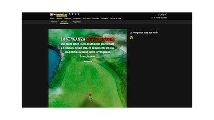 Captura del sitio en español de Khamenei