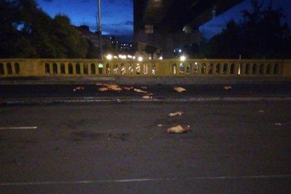 Así aparecieron los restos al amanecer en la Ciudad de México