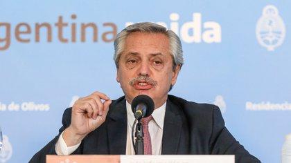 El presidente Alberto Fernández (Presidencia)