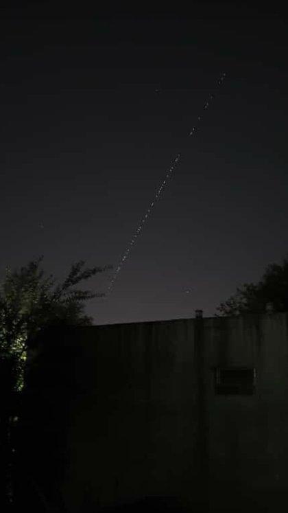 Imagen de los satélites subida por un usuario a las redes sociales