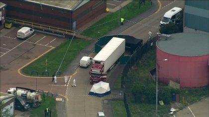 El vehículo se encontraba en el Parque Industrial Waterglade en Essex, este de Londres