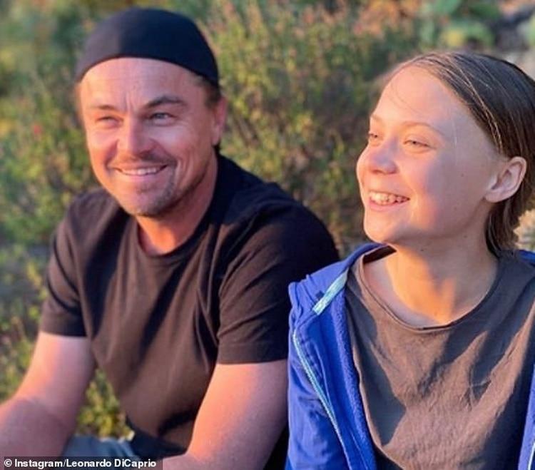 Leonardo DiCaprio y Greta Thunberg.