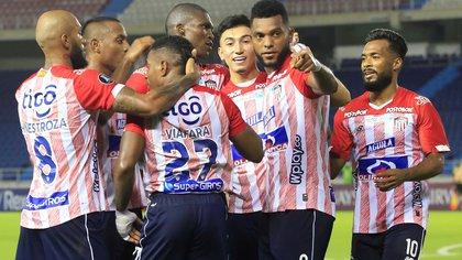 Miguel Borja regresó y con su gol metió a Junior en la fase de grupos de la Copa Libertadores
