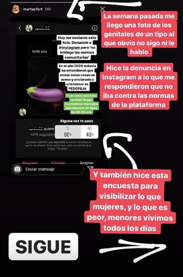 La publicación de Martita Fort en Instagram