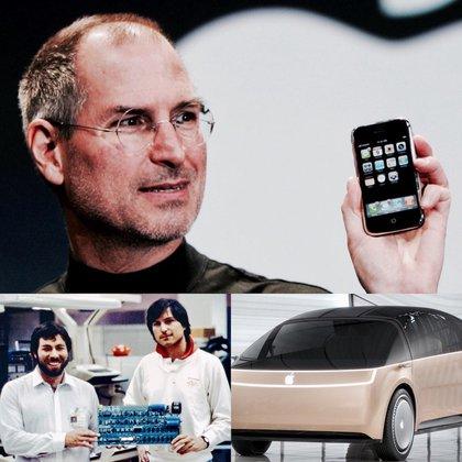 Steve Jobs y el iPhone de primera generación, que logró consagrar a la firma como la más valiosa del mundo. El Apple Car promete revolucionar el transporte urbano con un modelo eléctrico, autónomo y conectado