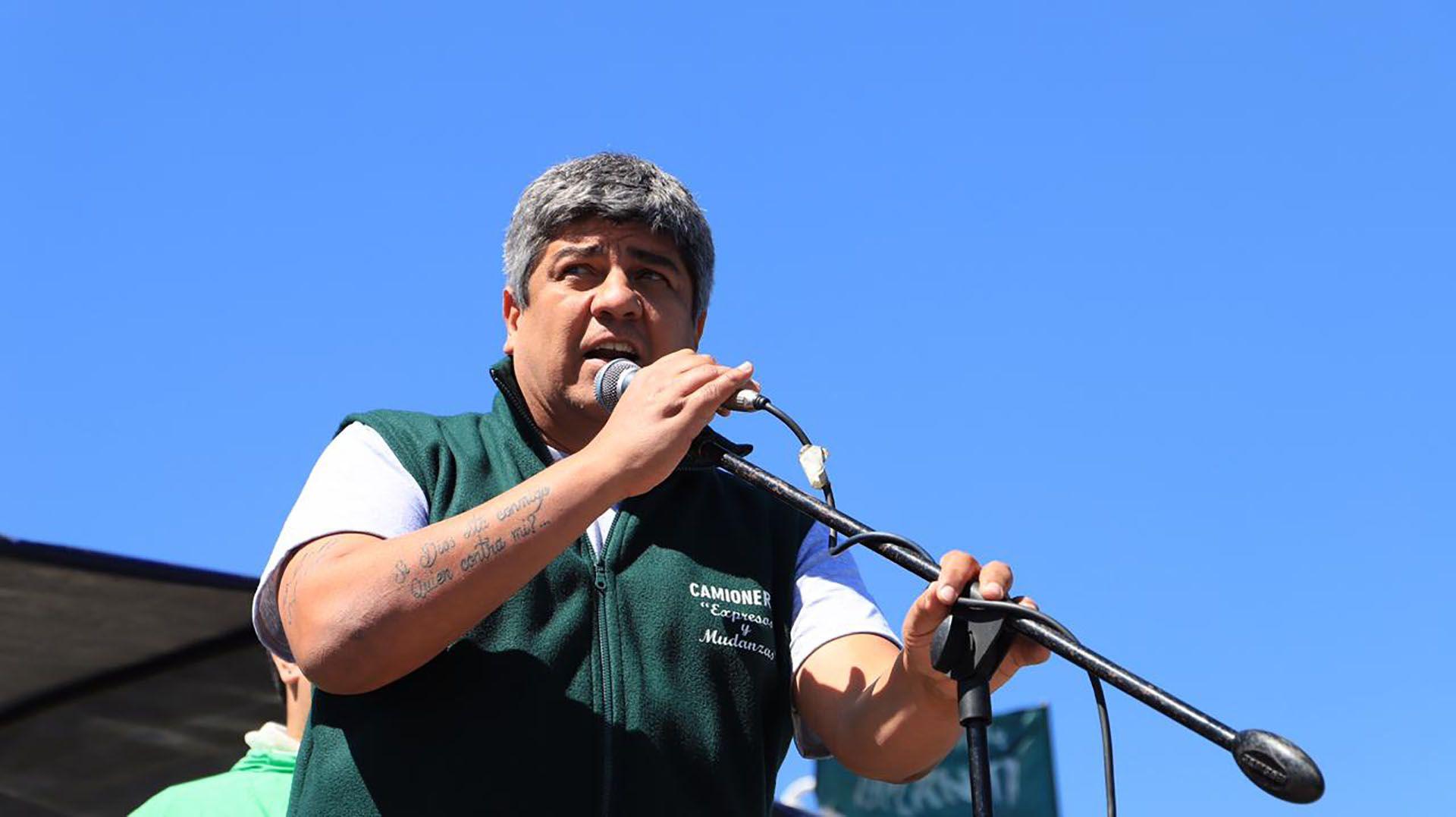Pablo Moyano, del gremio de Camioneros (Lihueel Althabe)