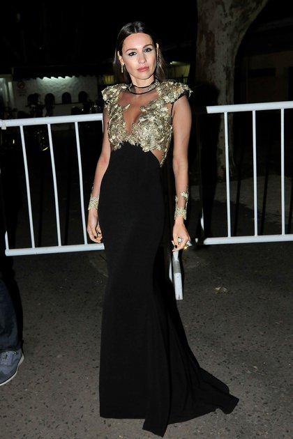 De negro y dorado, Pampita fue una de las más elegantes de la gala
