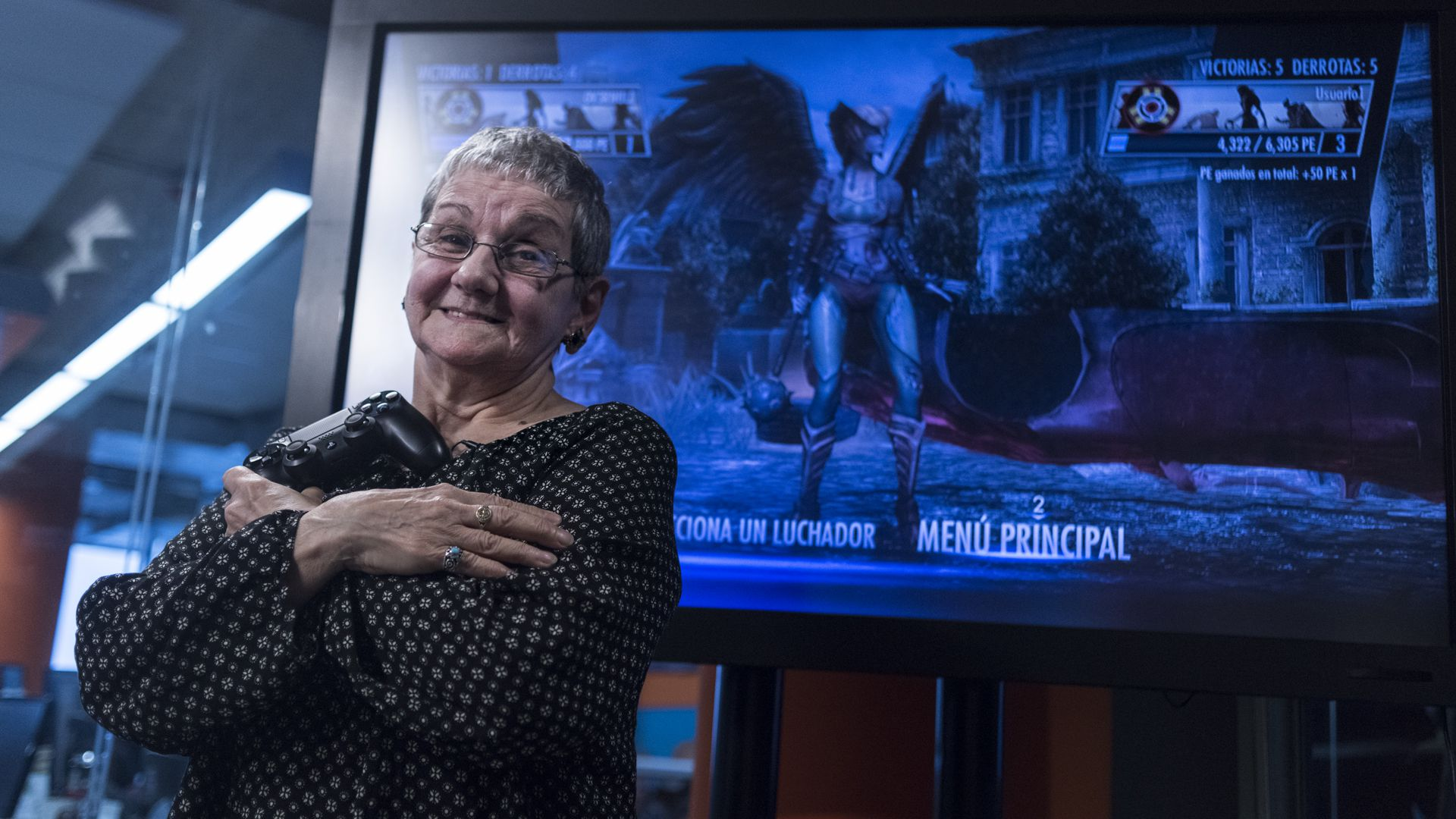 """Isabel Martinotti, la """"Abuela Gamer"""" durante una entrevista en Infobae en 2016"""
