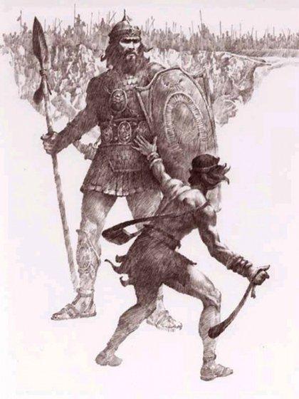 David enfrentó a Goliat con una honda, el arma usada por los pastores para ahuyentar a las fieras que amenazaban sus rebaños