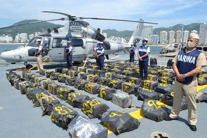 El personal adscrito a la Octava Región Naval aseguró la droga (Foto: SemarReuters)