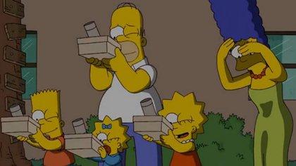Como era de esperar, los Simpsons son los máximos protagonistas de los memes sobre el eclipse solar 2019