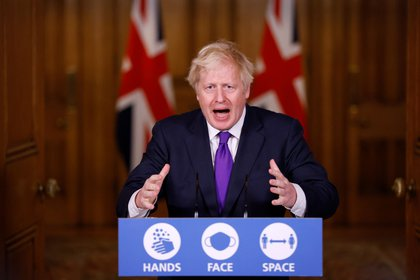 Primer ministro del Reino Unido, Boris Johnson, en una conferencia de prensa en Downing Street. REUTERS/John Sibley/Pool