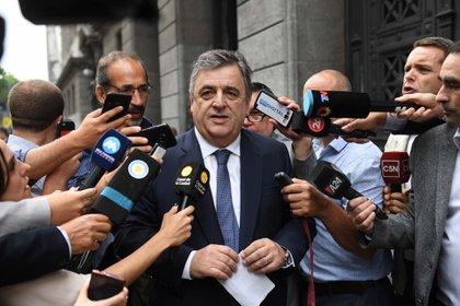 Marino Negri llega al Congreso de la Nación (Foto: Maximiliano Luna)