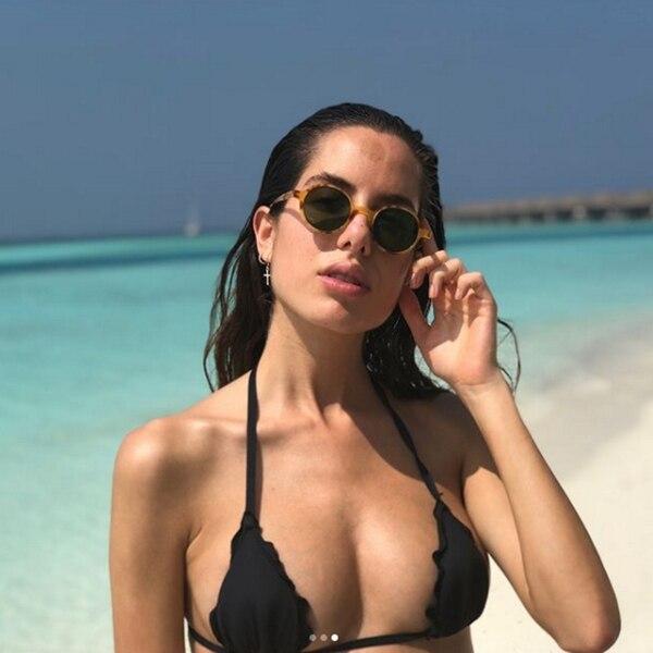 La anestesista Irene González Toboso, disfrutando del sol en las Islas Maldivas (@irenegtob)
