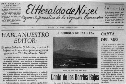 The Japanese published in Mexico a newspaper for their community.