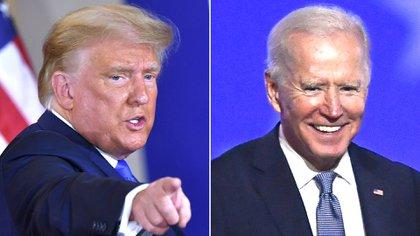 El presidente de los Estados Unidos y candidato republicano, Donald Trump, y su contrincante demócrata Joe Biden