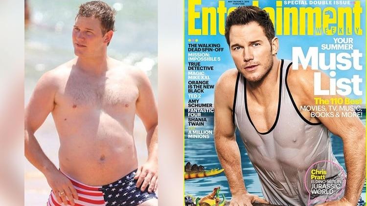 La transformación corporal del Chris Pratt