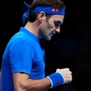 Tennis - ATP Finals - The O2, London, Britain - November 17, 2018 Switzerland's Roger Federer reacts during his semi final match against Germany's Alexander Zverev Action Images via Reuters/Andrew Couldridge