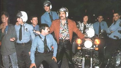 Freddie Mercury y Queen durante la gira en Argentina en 1981