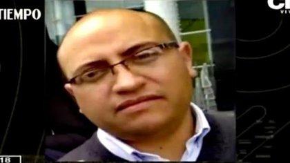 William Pérez, vigilante asesinado en Bogotá. Foto: Captura de pantalla CityTV.