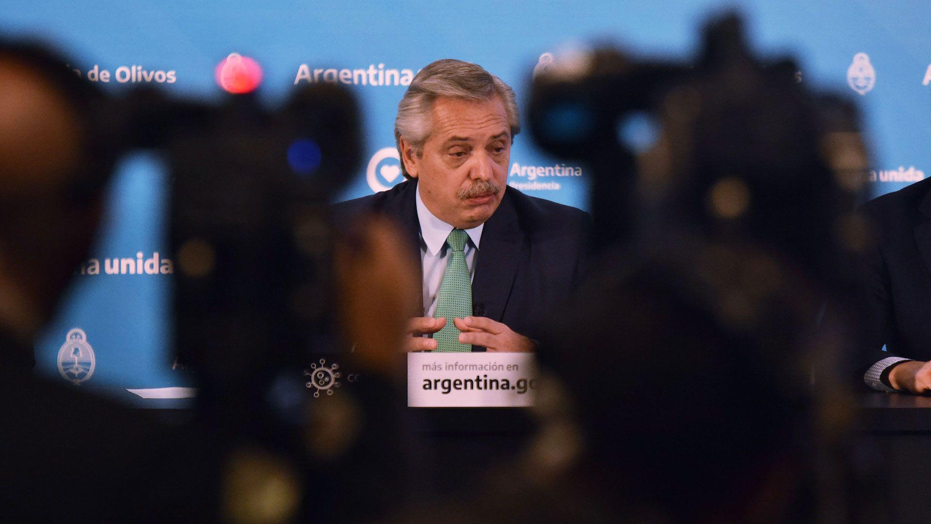 Conferencia de prensa Alberto Fernandez coronavirus olivos COVID 19 10 abril