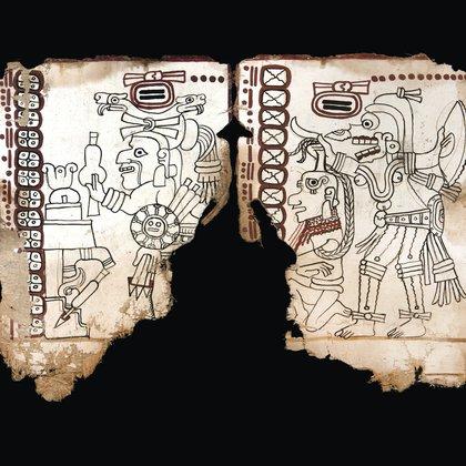 A menudo se representaban los asesinatos para someter a los jefes de pueblos rivales. Este códice maya se fue hecho entre 1021 y 1154 D de C. Foto: INAH