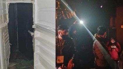 Una puerta de refrigerador como pasadizo secreto. una puerta de refrigerador como pasadizo secreto  (Foto: Twitter/soyluisgabriel1)