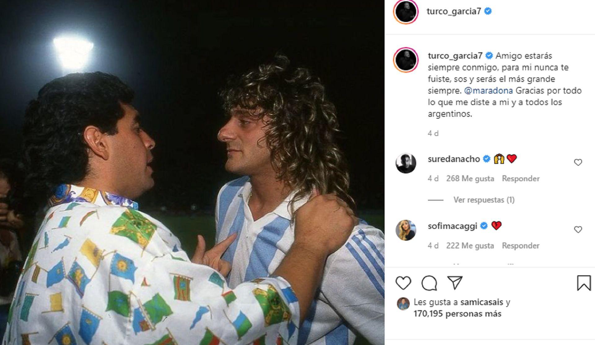 Diego Maradona y El Turco García