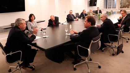 La reunión que mantuvo el Presidente con las autoridades de la empresa Vicentin