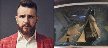 El orador fue asaltado metros adelante del Aeropuerto Intrenacional Benito Juárez en la Ciudad de México, rompieron las ventanas del auto y les quitaron sus pertenecias, cuando viajaba con su esposa y su chofer Foto: Twitter