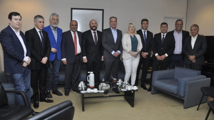 Una de las reuniones de gobernadores peronistas que hubo en los últimos meses de este año