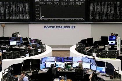 La bolsa de Alemania y el rendimiento del índice DAX tras las primeras negociaciones del lunes (Reuters)
