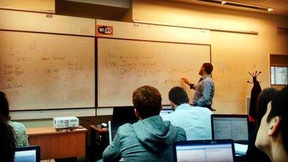 Clase de estadística actuarial en la Universidad de Buenos Aires