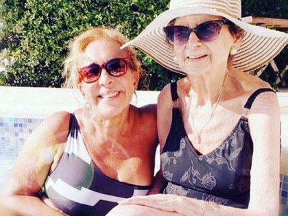 Georgina y su madre, Susana (Instagram @geobarbarossa)