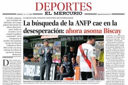 La noticia que publicó el diario El Mercurio de Chile