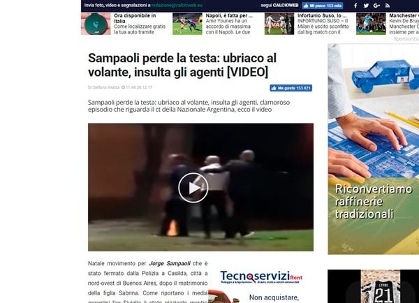 Calcioweb, Italia