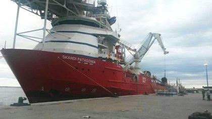 El Skandi Patagonia, contratado por la marina norteamericana