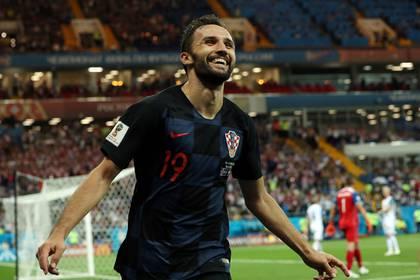 Milan Badeljhizo un gol y dio una asistencia en el partido de Croacia ante Islandia(Reuters)