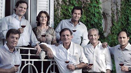 Parte de la familia Arizu (Foto: Luigi Bosca)