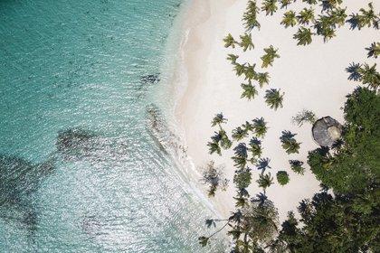 La imagen aérea de la arena virgen de Playa Esmeralda, el nuevo destino turistico de Rep. Dominicana