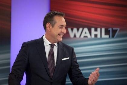 Heinz-Christian Strache, vicecanciller de Austria, del Partido de la Libertad (AFP PHOTO / Alex Halada)