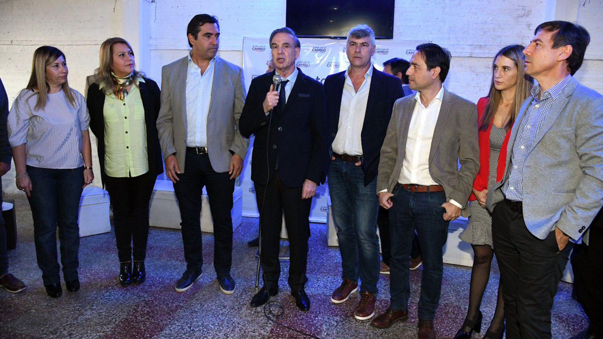 Miguel Ángel Pichetto en Formosa, junto a Luis Naidenoff y Ricardo Buryaile (@MiguelPichetto)