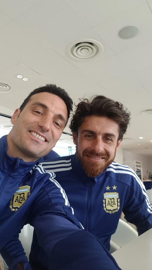 Lionel Scaloni y Pablo Aimar