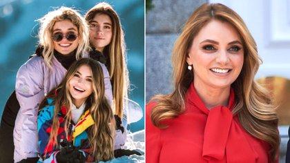 La ex primera dama de México decidió disfrutar de unos días con sus hijas en la nieve para despejarse del estrés del confinamiento (@sofia_96castro/Grosby)