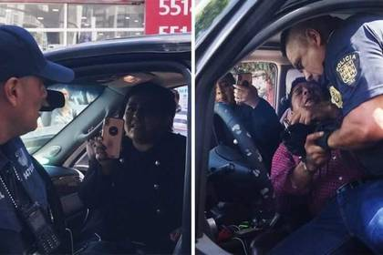 La detención ocurrió en las calles de la colonia Roma en Ciudad de México. (Foto: Twitter@cguerreromtz)