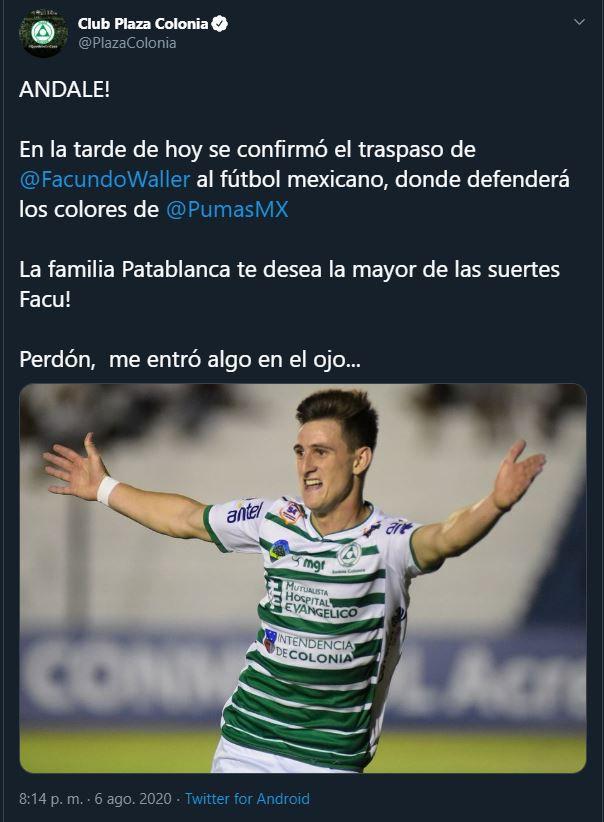 (Captura de pantalla: Twitter/PlazaColonia)