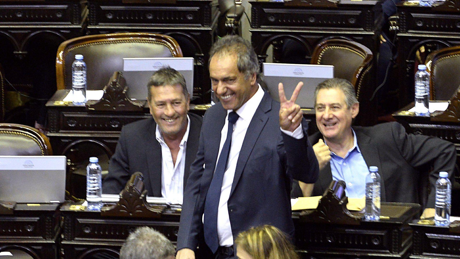 Daniel Scioli, durante la sesión en la que se debatió la reforma para las jubilaciones especiales. (Gustavo Gavotti)