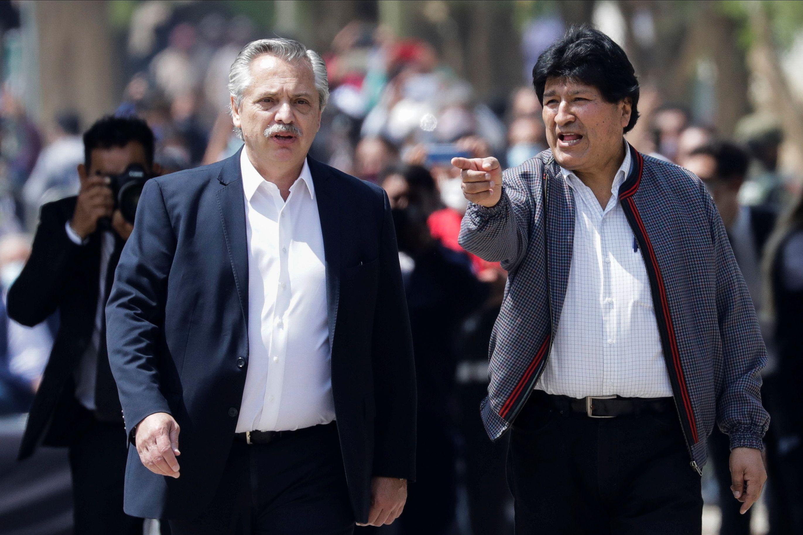 Alberto Fernández y Evo Morales (noviembre 2020 /Reuters)