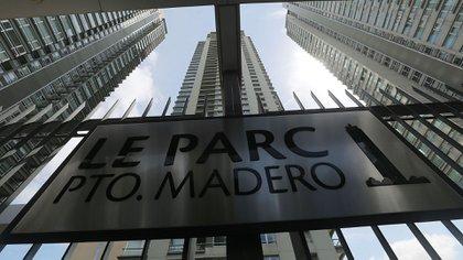 El edificio Le Parc de Puerto Madero, donde vivía Nisman y donde fue encontrado muerto (Getty)