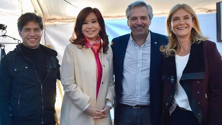 Axel Kicillof, Cristina Fernández, Alberto Fernández y Verónica Magario